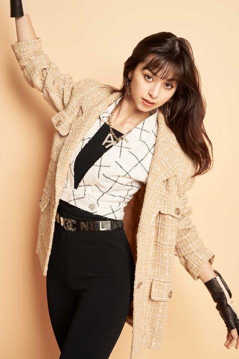 Clothing, Beauty, Fashion model, Waist, Photo shoot, Outerwear, Fashion, Leg, Lip, Photography,