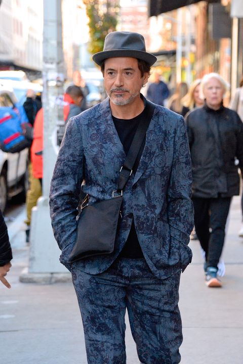 new york, ny   november 08  robert downey jr seen out and about in manhattan on  november 8, 2018 in new york city  photo by robert kamaugc images
