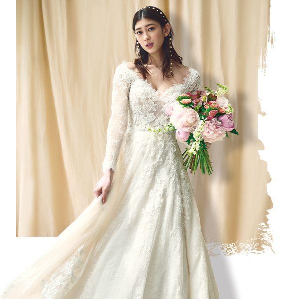 プロノビアス アオヤマとアンテリーベのドレス着用モデルカット組み合わせ画像画像