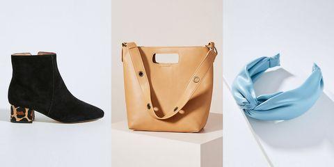 Footwear, Shoe, Bag, Beige, Leather, Handbag, Fashion accessory, High heels,