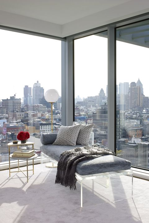 Reading nook with a view