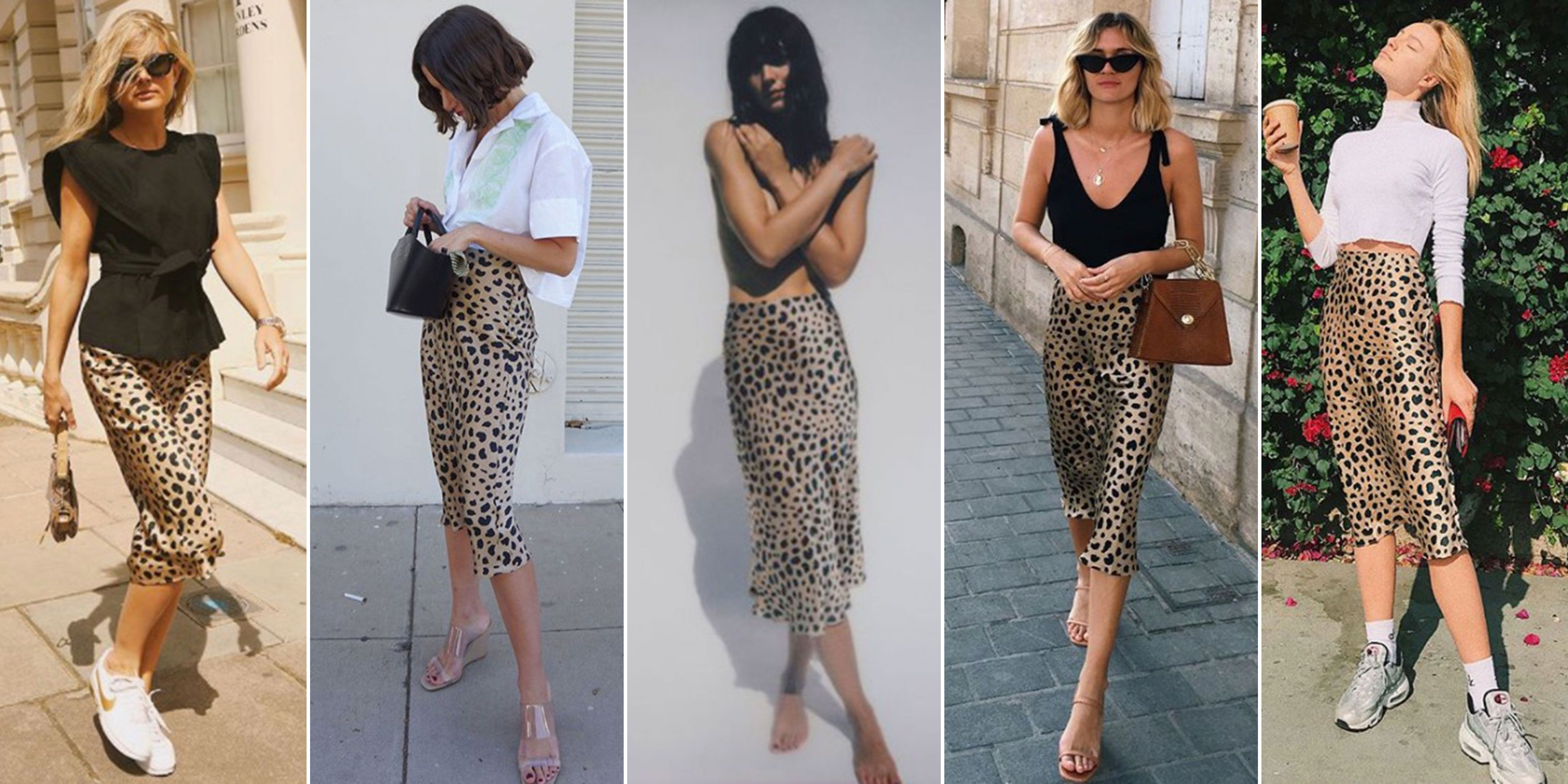 f40cc287976d Everyone is wearing Realisation Par s Naomi skirt – Realisation Par s  leopard skirt is all over Instagram