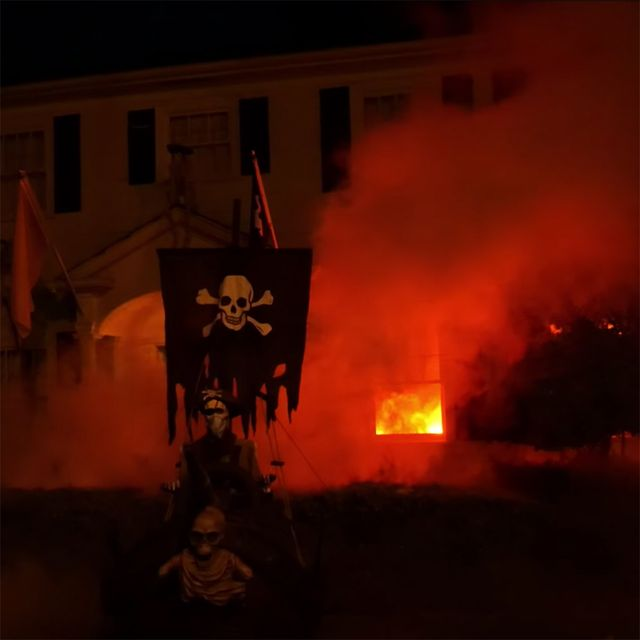 realistic fire halloween decorations