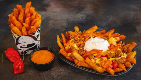 Dish, Food, Junk food, Ingredient, Cuisine, Fried food, French fries, Cheese fries, Poutine, Side dish,