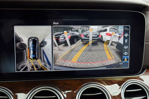 Rear view monitor in a private car