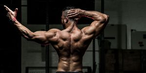 Rear View Of Body Builder