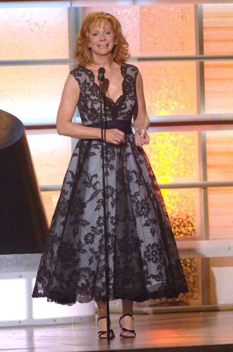 f3ef33401a Reba McEntire s Best ACM Awards Show Looks - Reba McEntire ACMs Red ...