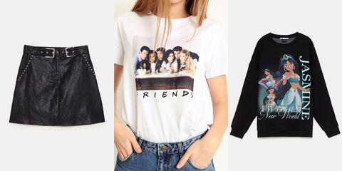 Clothing, White, Black, T-shirt, Sleeve, Product, Crop top, Shoulder, Jeans, Fashion,