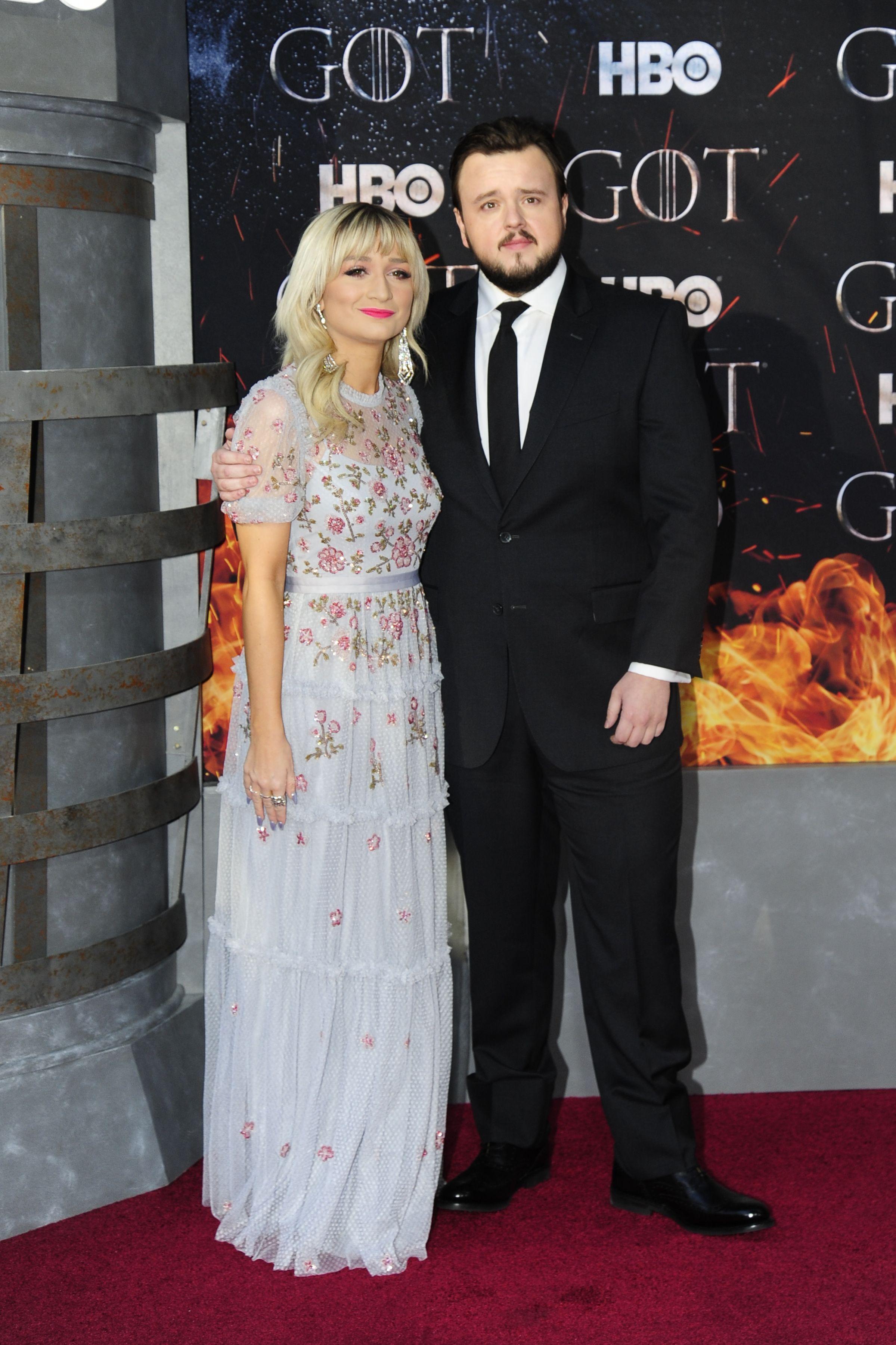 John Bradley (Samwell Tarly) and Rebecca April