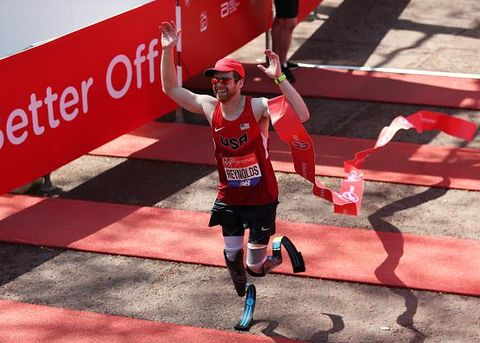Brian Reynolds Breaks Half Marathon Record at NYC for Double Amputee