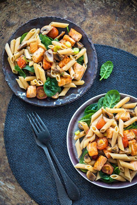 Eet als een atleet Pasta met zalm