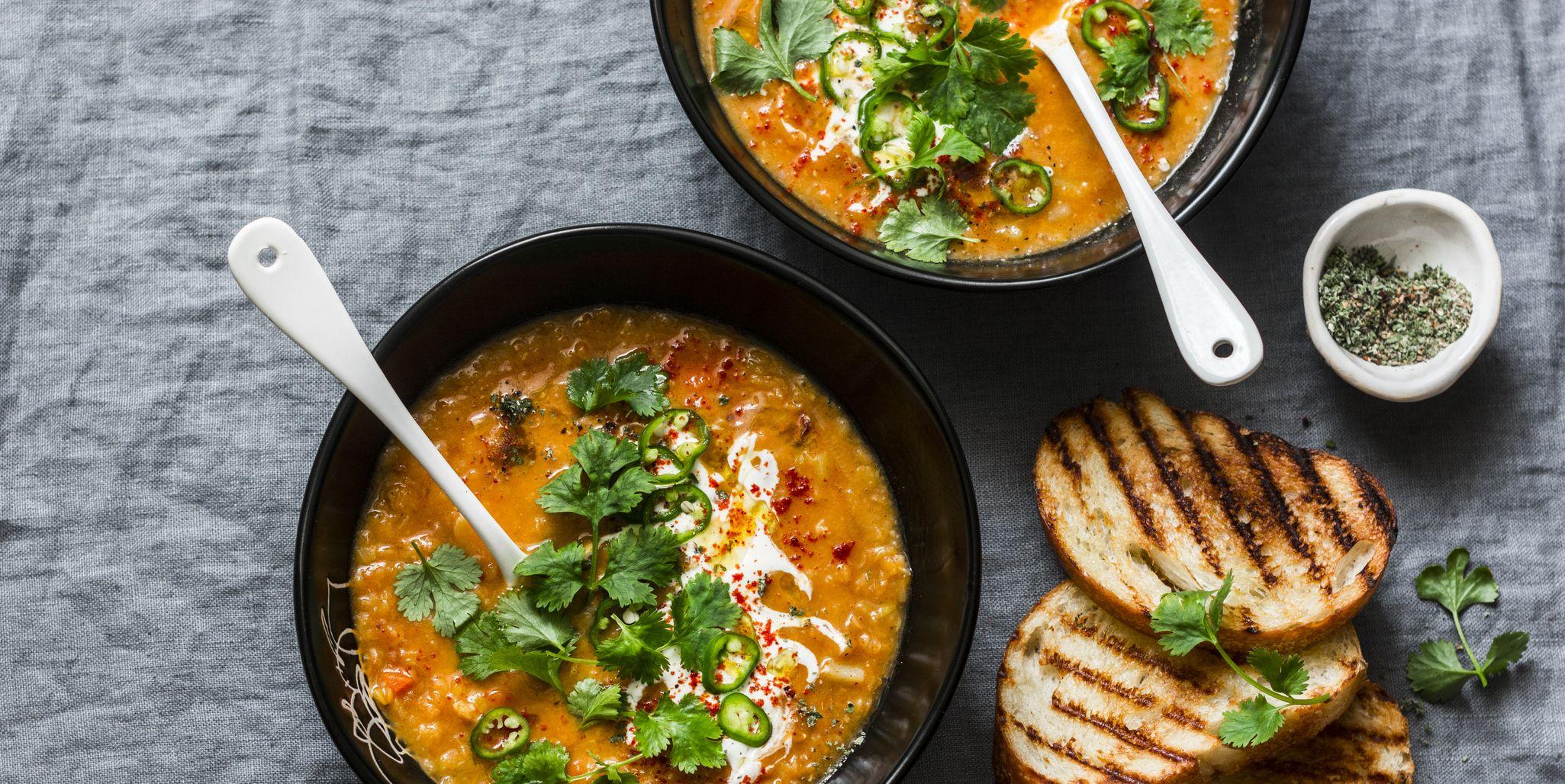Makkelijk en gezond recept: vegetarische rode linzensoep