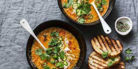 makkelijk en gezond recept vegetarische rode linzensoep