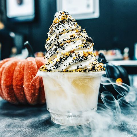 Cone, Food, Dessert, Sweetness, Cuisine, Ingredient, Frozen dessert, Peach, Recipe, Dairy,