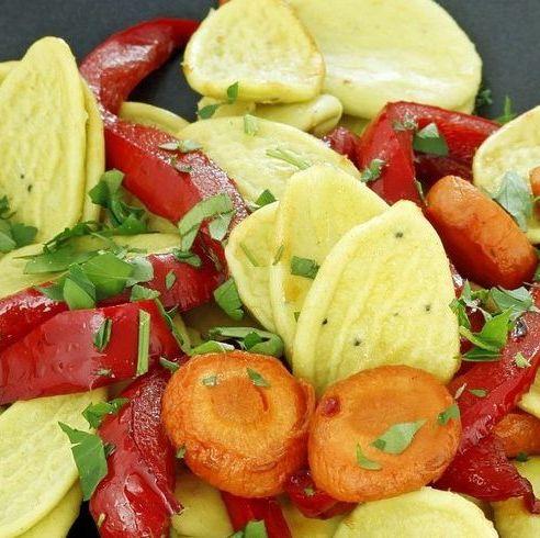 receta pasta con zanahorias y pimientos asados