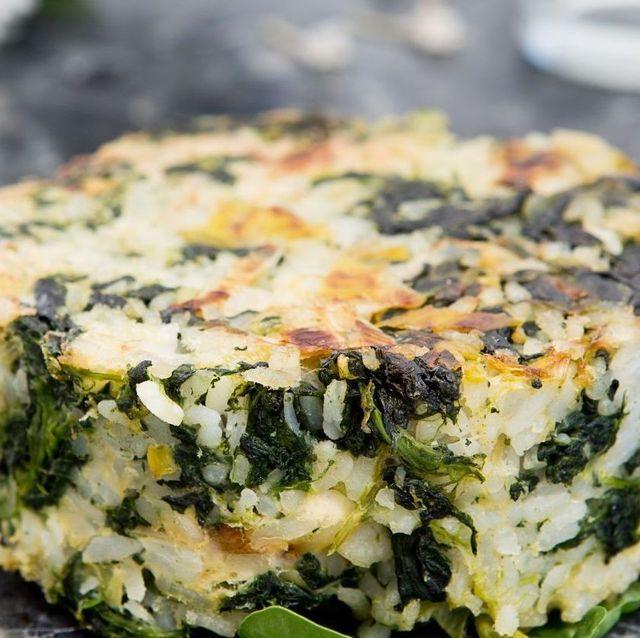 receta torta de arroz y espinacas al horno