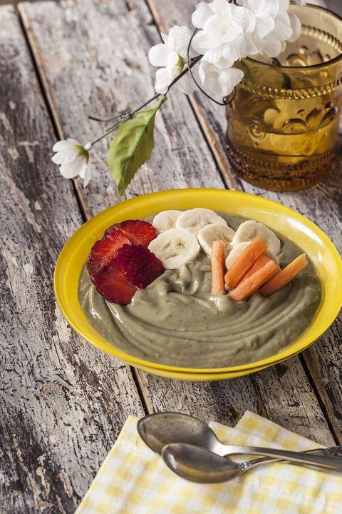 receta de crema de frutas