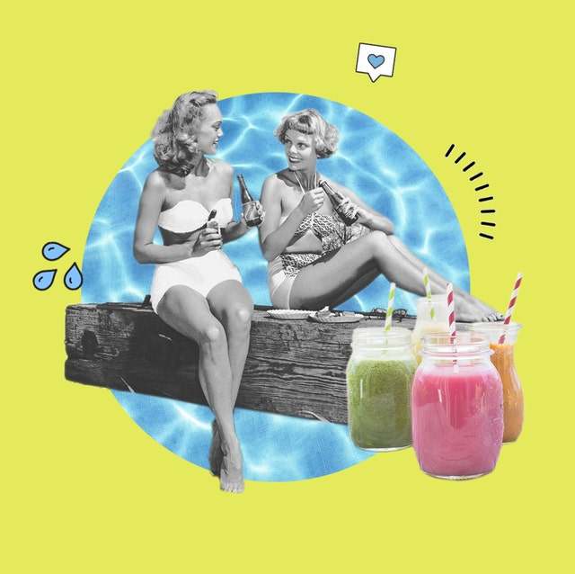 mujeres años 50 haciendo un picnic