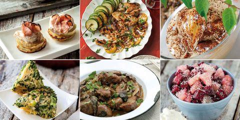 Menú con alimentos de septiembre
