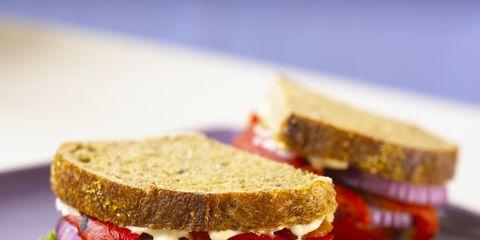 Finger food, Food, Cuisine, Ingredient, Vegetable, Baked goods, Dish, Produce, Brown bread, Tableware,