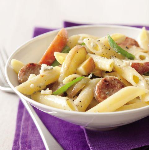 Low-Carb Apple Sausage Penne Pasta Recipe - Prevention.com