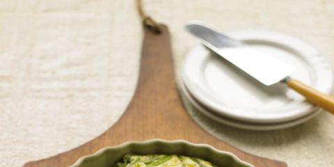 Green, Serveware, Dishware, Food, Ingredient, Tableware, Kitchen utensil, Recipe, Cutlery, Plate,