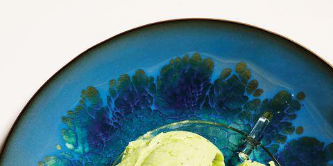Dishware, Food, Ingredient, Serveware, Ice cream, Plate, Gelato, Sweetness, Soy ice cream, Cuisine,