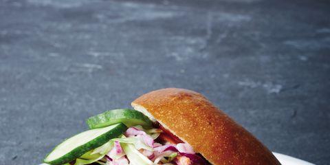 Food, Sandwich, Finger food, Cuisine, Baked goods, Vegetable, Dishware, Ingredient, Plate, Dish,