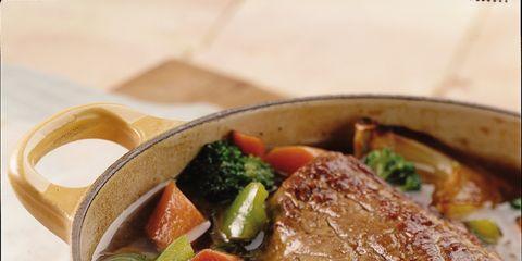 Food, Ingredient, Recipe, Dish, Tableware, Soup, Cuisine, Produce, Garnish, Meat,