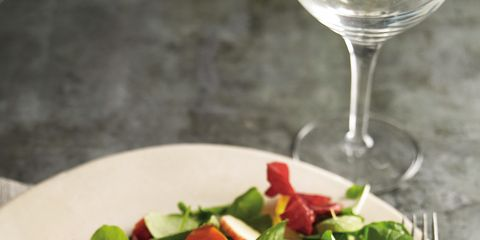 Dishware, Food, Serveware, Glass, Tableware, Ingredient, Plate, Drinkware, Stemware, Kitchen utensil,