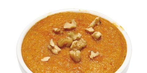 Food, Amber, Recipe, Dish, Ingredient, Bowl, Custard, Stew, Indian cuisine, Kitchen utensil,