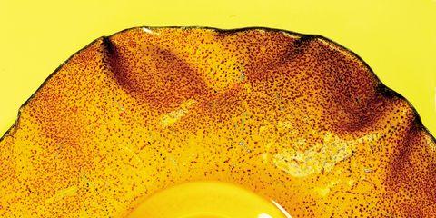Yellow, Egg yolk, Ingredient, Amber, Orange, Egg white, Circle, Egg, Egg, Macro photography,