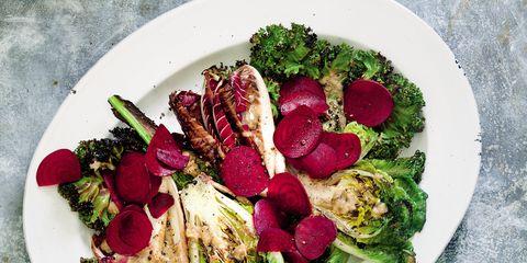 Food, Dishware, Tableware, Leaf vegetable, Serveware, Ingredient, Plate, Garnish, Recipe, Produce,