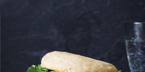 Food, Sandwich, Finger food, Cuisine, Ingredient, Leaf vegetable, Tableware, Vegetable, Baked goods, Bun,