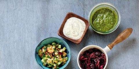 Green, Ingredient, Leaf, Condiment, Spice, Meal, Bowl, Produce, Chutney, Dishware,