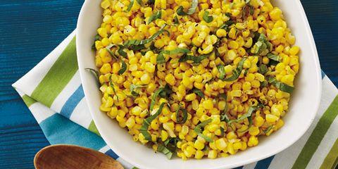 Yellow, Food, Kitchen utensil, Cutlery, Cuisine, Corn kernels, Dishware, Produce, Vegetarian food, Mixture,