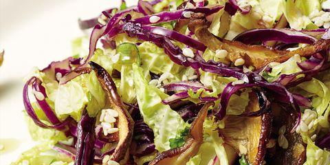 Food, Cuisine, Ingredient, Magenta, Leaf vegetable, Purple, Salad, Produce, Recipe, Red cabbage,