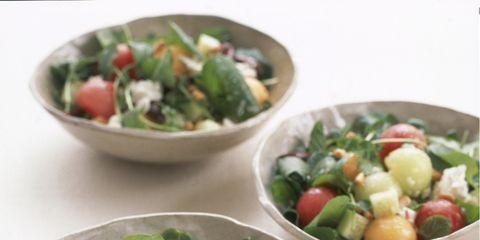 Food, Salad, Produce, Ingredient, Cuisine, Vegetable, Bowl, Dishware, Tableware, Food group,