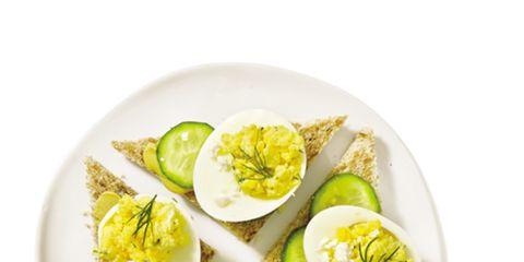 Food, Ingredient, Dishware, Boiled egg, Egg, Recipe, Egg, Serveware, Breakfast, Staple food,