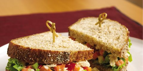 Food, Cuisine, Tableware, Dish, Ingredient, Plate, Baked goods, Vegetable, Finger food, Brown bread,