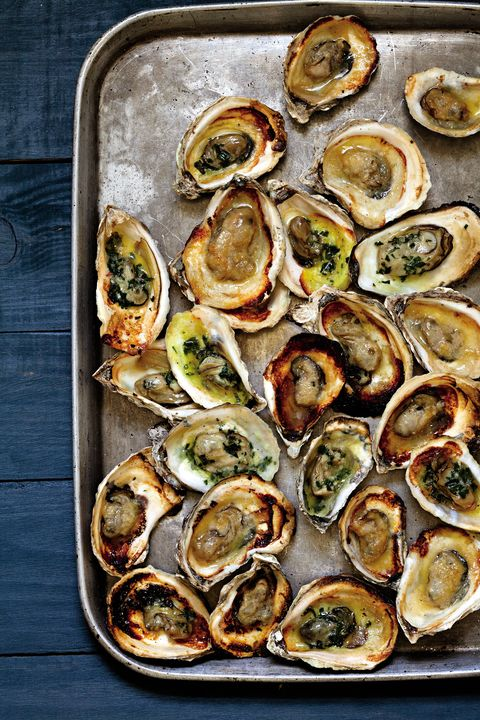 Grilled Oysters with Tarragon and Miso Butters