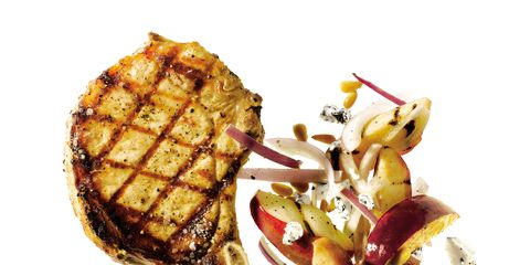 Food, Cuisine, Breakfast, Garnish, Dish, Pork steak, Meat, Pork, Ingredient, Fast food,