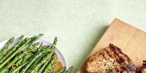 Food, Cuisine, Ingredient, Meat, Dish, Recipe, Vegetable, Dishware, Asparagus, Plate,