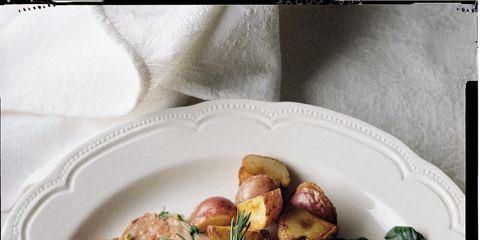 Food, Dishware, Ingredient, Tableware, Plate, Serveware, Meat, Garnish, Recipe, Cuisine,
