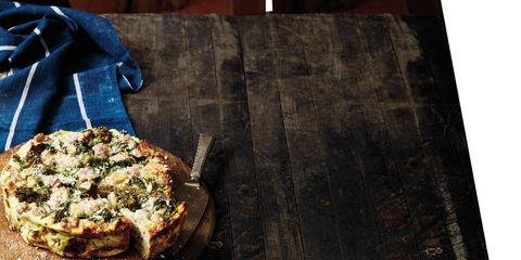 Wood, Cuisine, Food, Ingredient, Pizza, Baked goods, Plate, Dish, Tableware, Recipe,