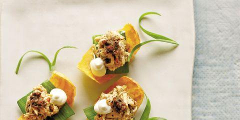 Finger food, Food, Cuisine, Dish, Ingredient, Culinary art, Recipe, Canapé, appetizer, Garnish,