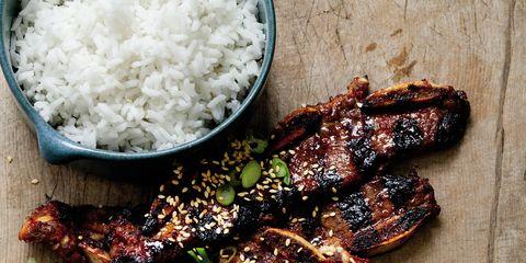 Food, Ingredient, Recipe, Dish, Steamed rice, White rice, Cuisine, Rice, Plate, Jasmine rice,