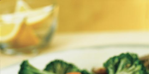 Food, Dishware, Tableware, Ingredient, Leaf vegetable, Plate, Serveware, Produce, Meat, Lemon,