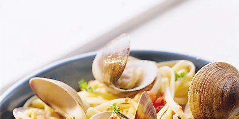 Food, Ingredient, Cuisine, Seafood, Clam, Pasta, Bivalve, Recipe, Shellfish, Staple food,