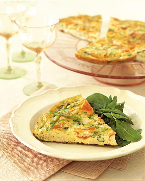 Smoked Salmon And Scallions Frittata Healthy Frittata Recipe
